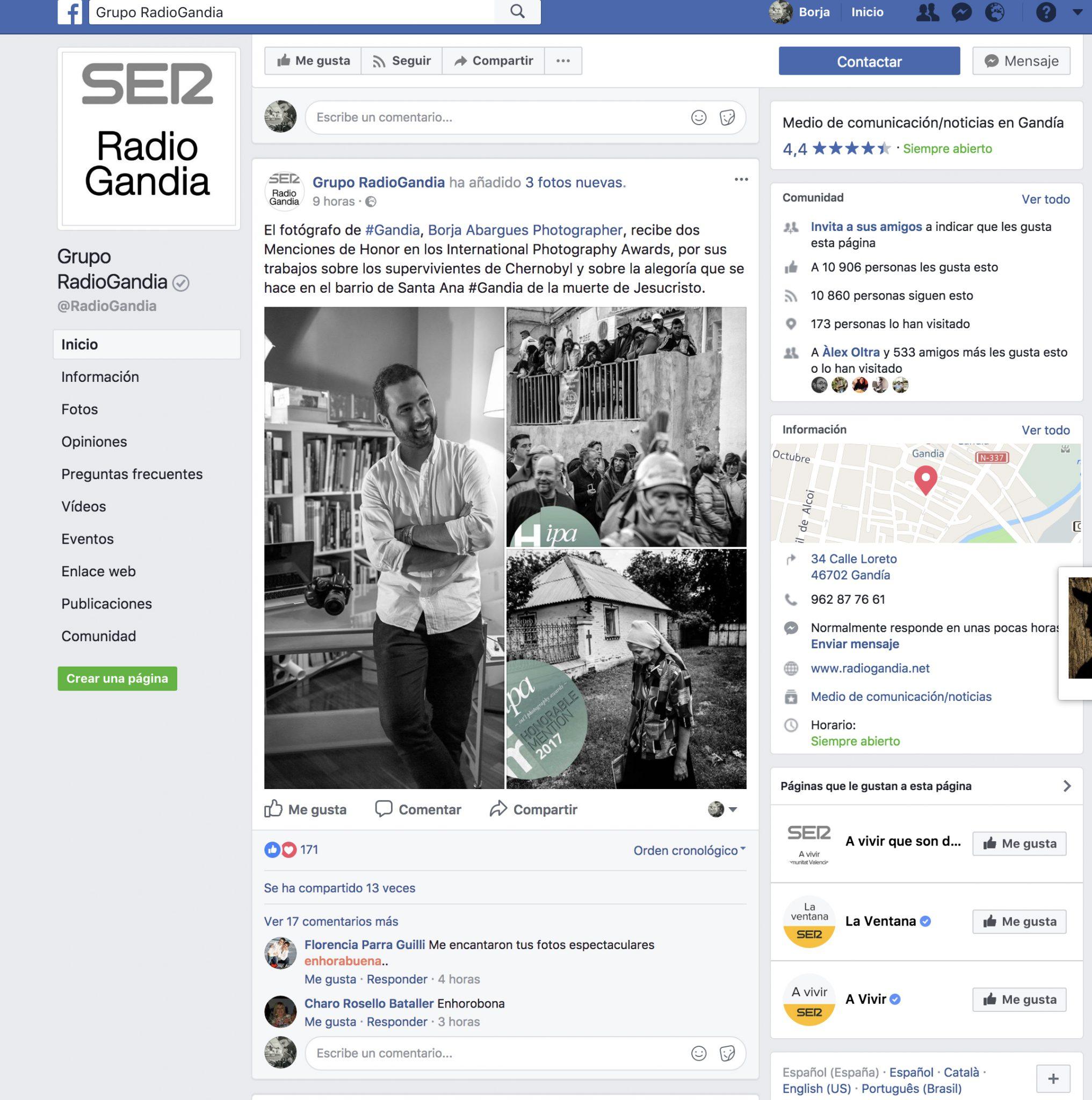 Cadena Ser Radio Gandia 2017-10-11