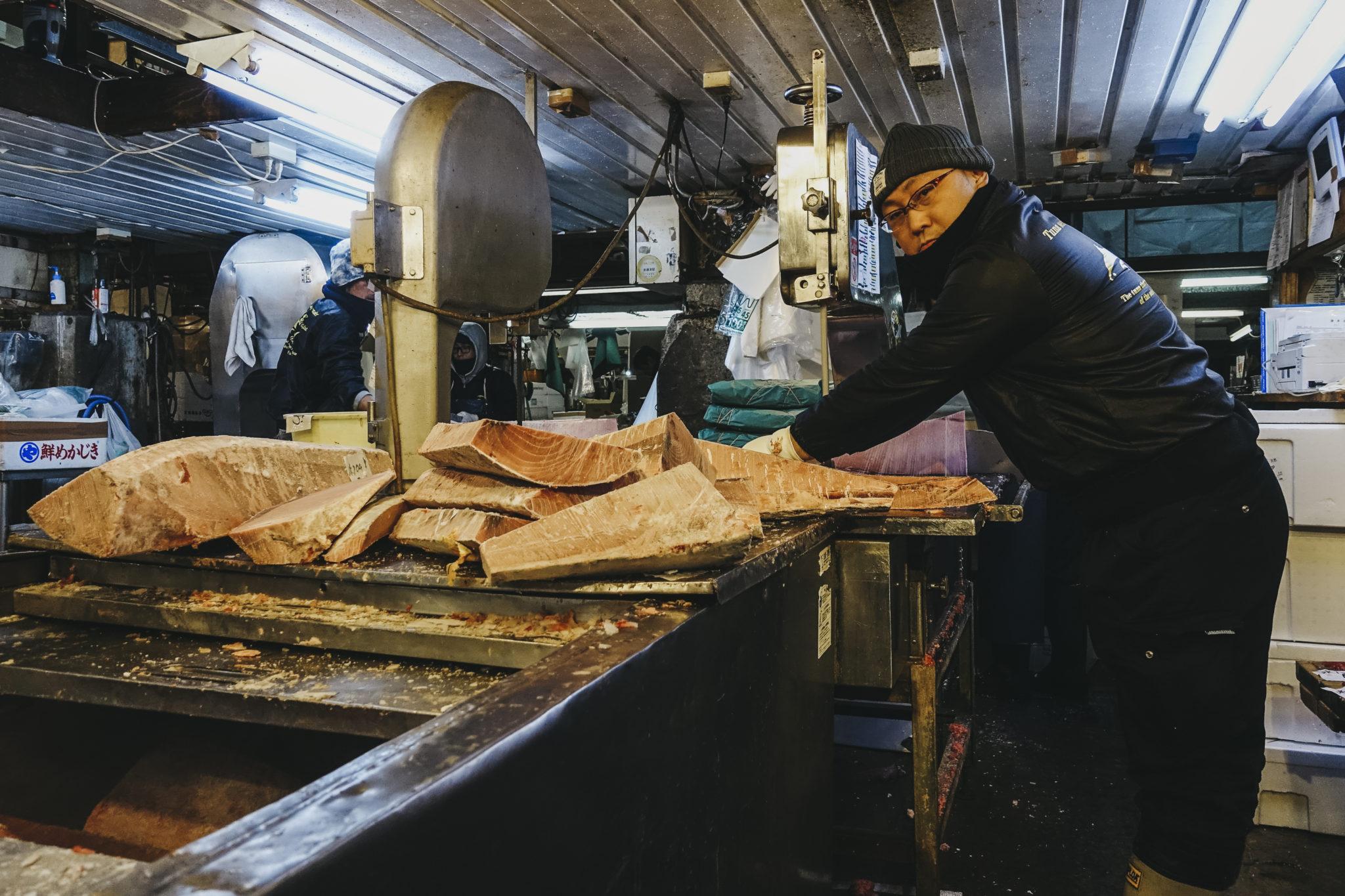 05 – Cutting frozen tuna
